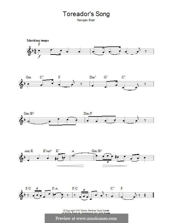 Куплеты Тореадора: Мелодия by Жорж Бизе