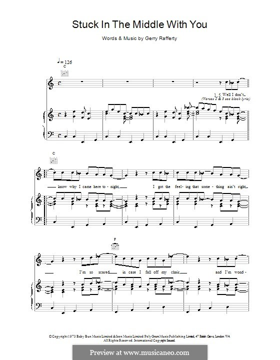 Stuck in the middle with you sheet music preview page 5