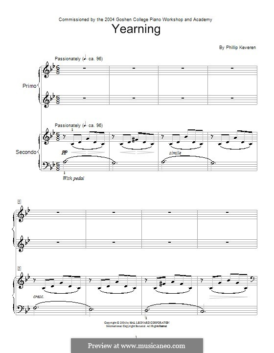 Yearning: For piano by Phillip Keveren