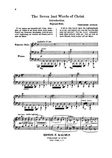 The Seven Last Words of Christ: Piano-vocal score by Théodore Dubois