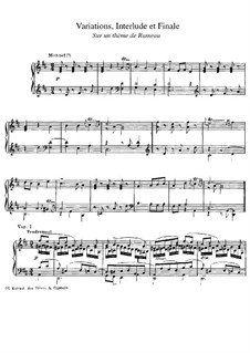 Variations, Interlude and Finale on Theme by Rameau: Variations, Interlude and Finale on Theme by Rameau by Paul Dukas