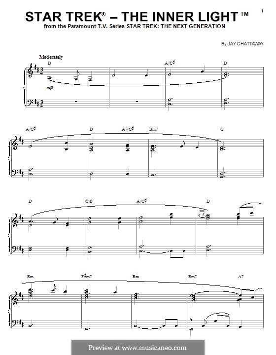 Star Trek - The Inner Light: For piano by Jay Chattaway