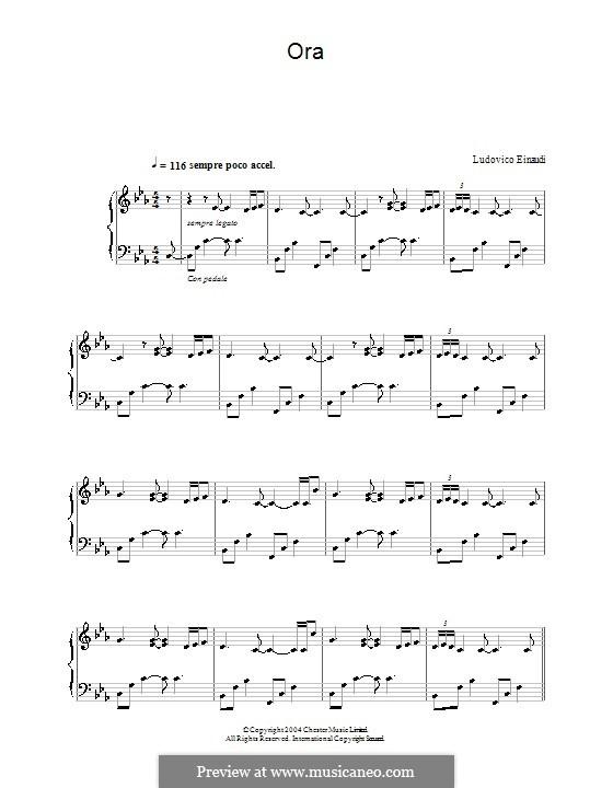 Ora: For piano by Ludovico Einaudi