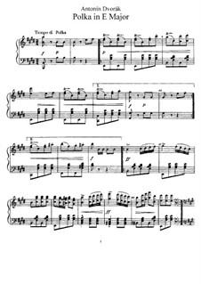 Polka in E Major, B.3: For piano by Antonín Dvořák