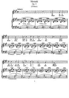 Sirotek (The Orphan), B.24 Op.5: Sirotek (The Orphan) by Antonín Dvořák