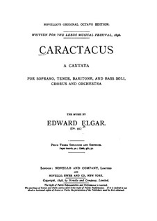 Caractacus (Cantata), Op.35: Piano-vocal score by Edward Elgar