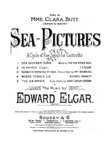 sea pictures op 37 vocal score