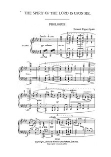 The Apostles, Op.49: Spirit of the Lord is upon Me, for choir and piano by Edward Elgar