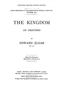 The Kingdom, Op.51: Piano-vocal score by Edward Elgar