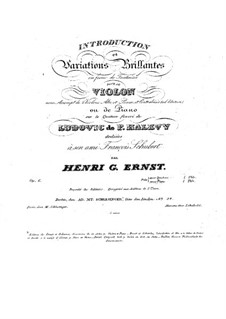 Introduction and Variations Brilliantes on Theme of Ludovic de F. Halevy, Op.6: Introduction and Variations Brilliantes on Theme of Ludovic de F. Halevy by Heinrich Wilhelm Ernst