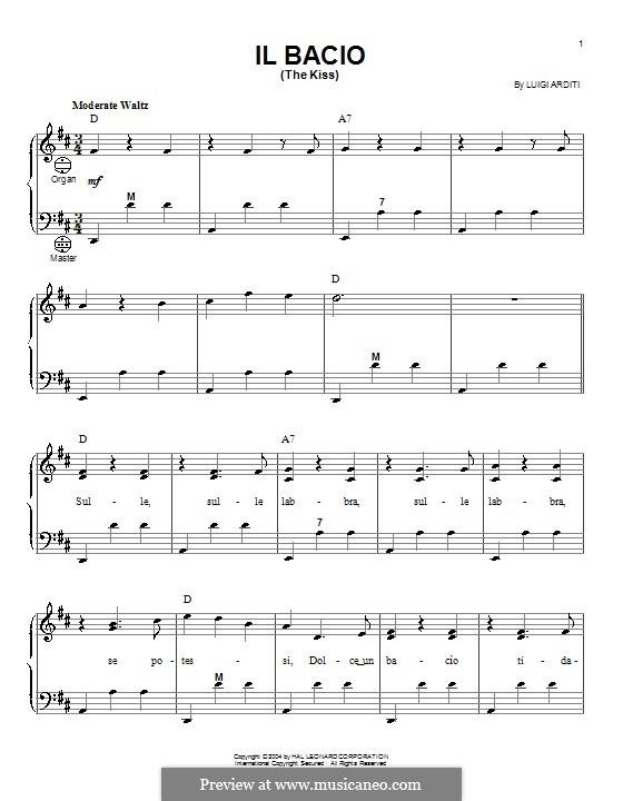 Il bacio (The Kiss): For accordion by Luigi Arditi