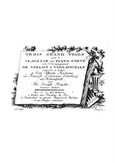 Piano Trios (Collection), Hob.XV: No.18-20 by Joseph Haydn