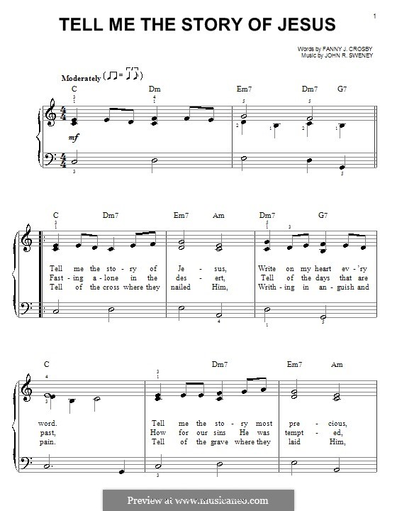 Tell Me the Story of Jesus: For easy piano by John Robson Sweney