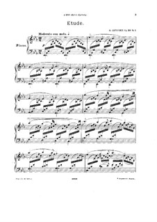 Three Pieces for Piano, Op.30: Three Pieces for Piano by Alexander Ilyinsky