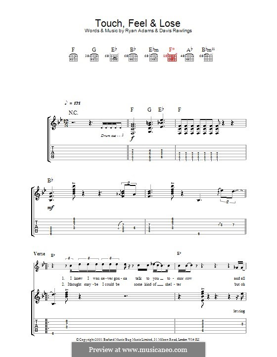 Touch, Feel & Lose: For guitar with tab by David Rawlings