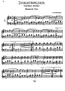 Waves of the Danube: For piano by Ion Ivanovici