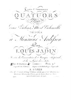 Three String Quartets II: Three String Quartets II by Louis-Emmanuel Jadin