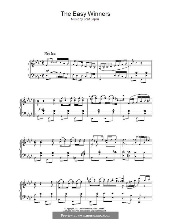 The Easy Winners: For piano by Scott Joplin