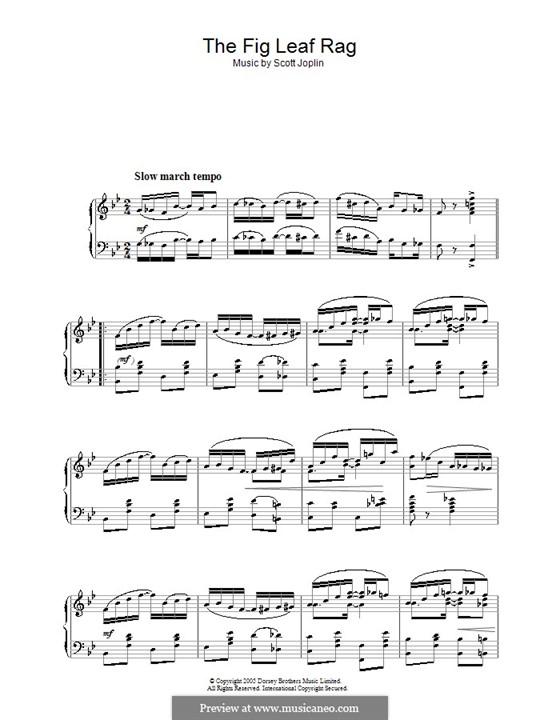 Fig Leaf Rag: For piano by Scott Joplin