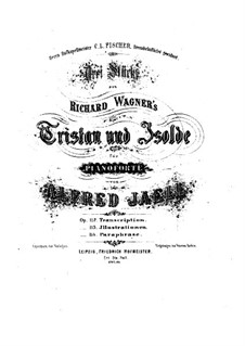 Fragments: For piano by Richard Wagner