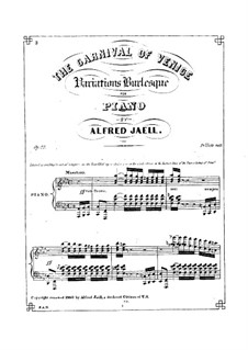 The Carnival of Venice, Op.22: The Carnival of Venice by Alfred Jaell