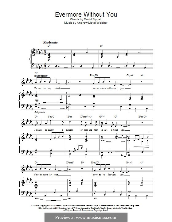 Evermore without You: For voice and piano (or guitar) by Andrew Lloyd Webber