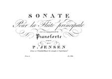 Sonata for Flute and Piano in F Minor, Op.6: Sonata for Flute and Piano in F Minor by Niels Peter Jensen