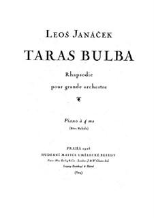 Taras Bulba, JW 6/15: Version for piano four hands by Leoš Janáček