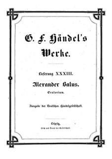 Alexander Balus, HWV 65: Full score by Georg Friedrich Händel