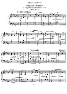 Forgotten Fairytales, Op.4: For piano by Edward MacDowell