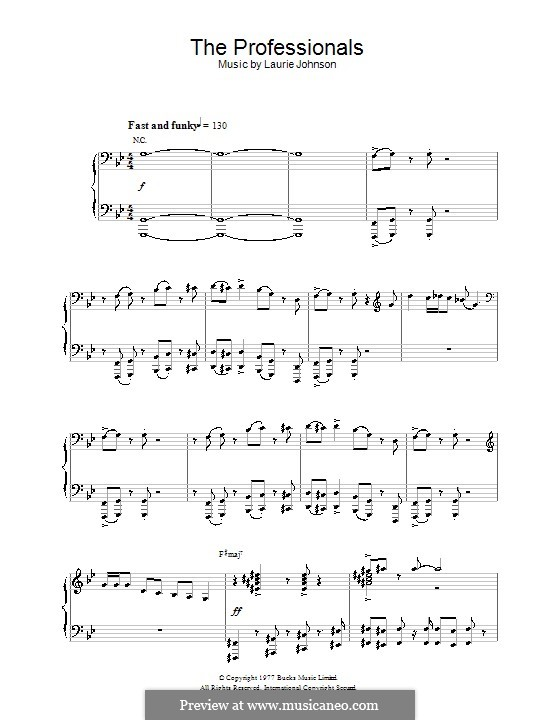 Theme from The Professionals: For piano by Laurie Johnson