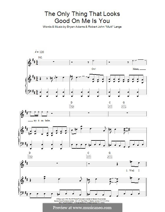 The Only Thing That Looks Good on Me Is You: For voice and piano (or guitar) by Robert John Lange