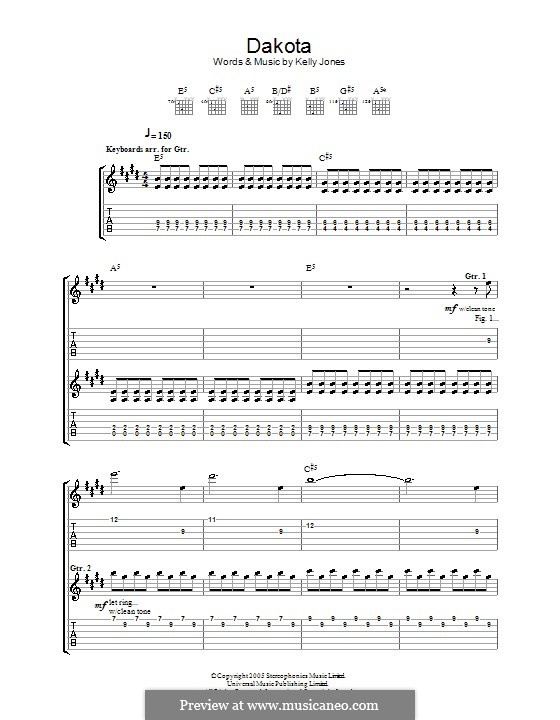 Dakota (Stereophonics): For guitar with tab by Kelly Jones