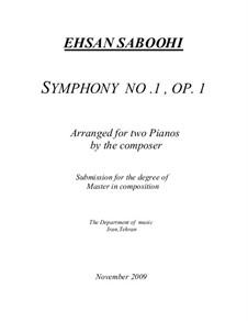 Symphony No.1, Op.1: Symphony No.1 by Ehsan Saboohi