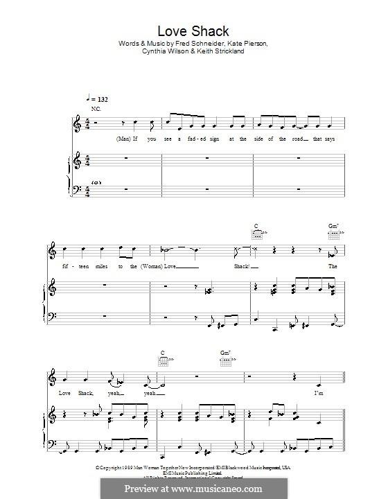 Love Shack (The B-52\'s) by C.L. Wilson, F.W. Schneider, Kate Pierson ...