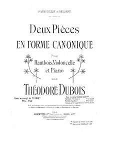 Two Pices in the Form of Canon: Two Pices in the Form of Canon by Théodore Dubois