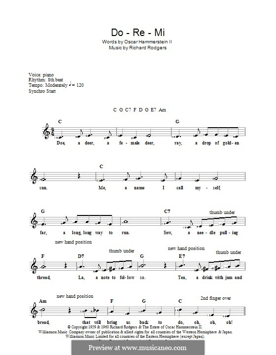 Do-Re-Mi (from The Sound of Music): For keyboard by Richard Rodgers