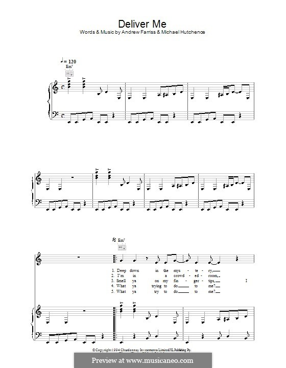 Deliver Me (INXS): For voice and piano (or guitar) by Andrew Farriss, Michael Hutchence