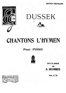 Chantons l'hymen: Chantons l'hymen by Jan Ladislav Dussek