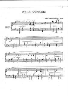 Five Piano Pieces, Op.1: Complete set by Ossip Gabrilowitsch