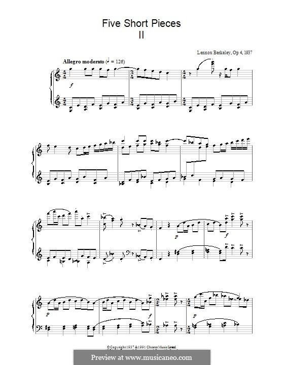 Five Short Pieces, Op.4: Piece No.2 by Lennox Berkeley