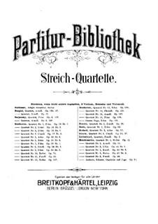 String Quartet No.1, Op.63: Full score by Niels Wilhelm Gade