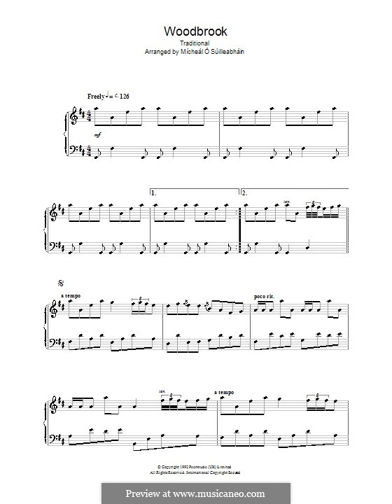 Woodbrook: For piano by folklore