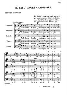 Madrigal 'Il Bell'Umore': Madrigal 'Il Bell'Umore' by Giovanni Giacomo Gastoldi
