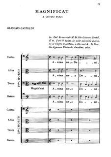 Magnificat 'Anima mea Dominum': Magnificat 'Anima mea Dominum' by Giovanni Giacomo Gastoldi