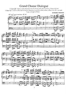 Grand Choeur Dialogué: For organ by Eugène Gigout
