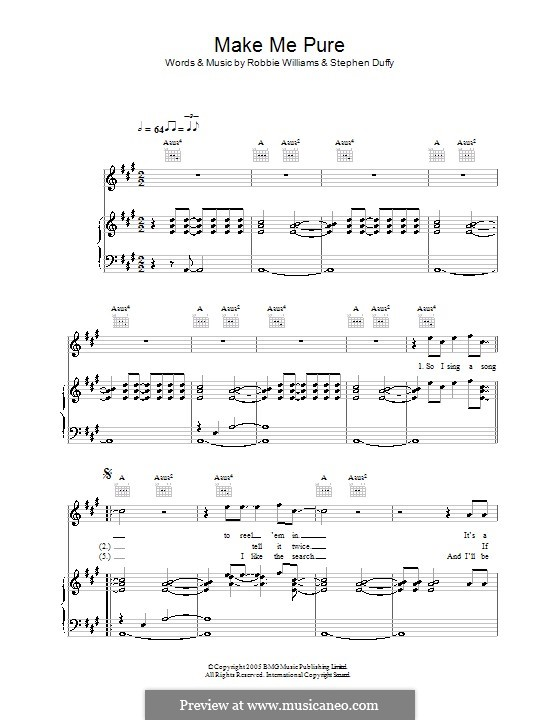 Make Me Pure: For voice and piano (or guitar) by Stephen Duffy