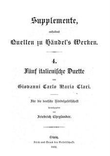 Fünf italienische Duette: Fünf italienische Duette by Giovanni Carlo Maria Clari