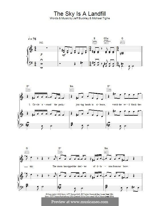 The Sky Is a Landfill: For voice and piano (or guitar) by Michael Tighe