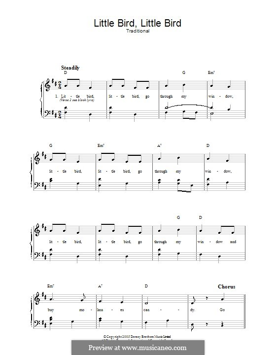 Little Bird, Little Bird: For voice and piano by folklore